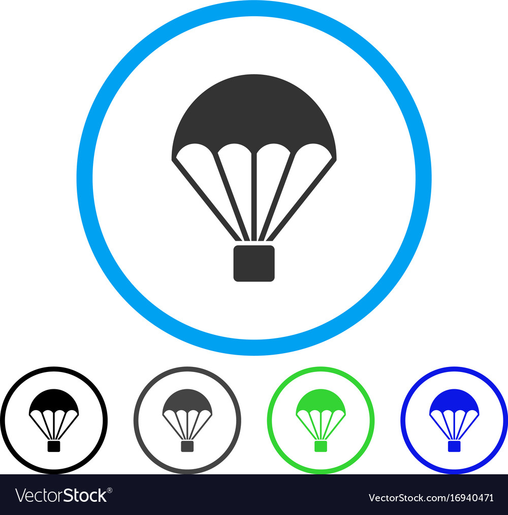 Parachute rounded icon