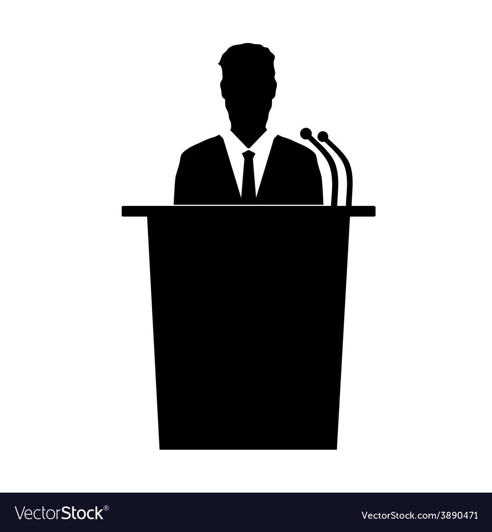 Speaker talk silhouette vector image