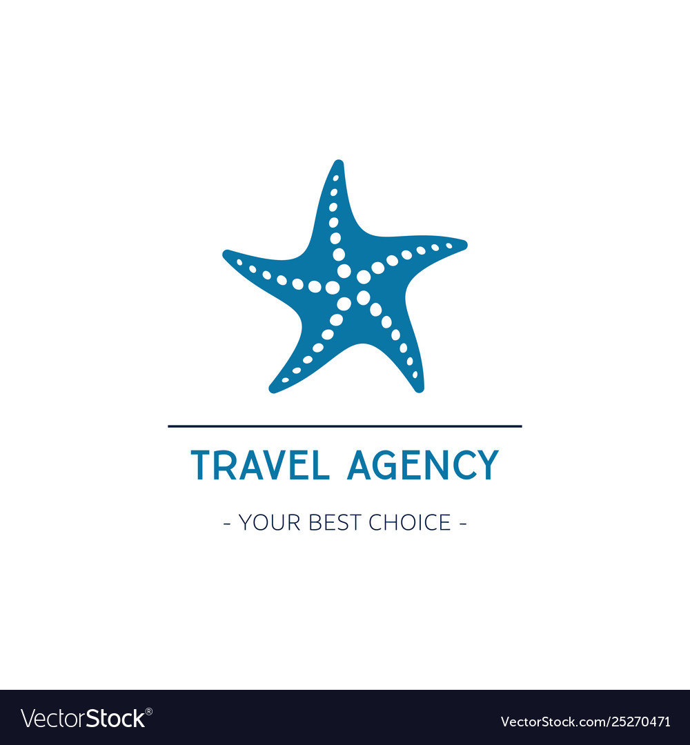 Travel agency logo design with starfish