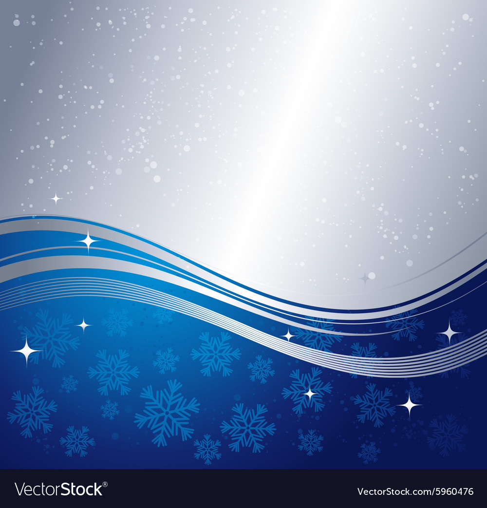 Blue winter abstract background