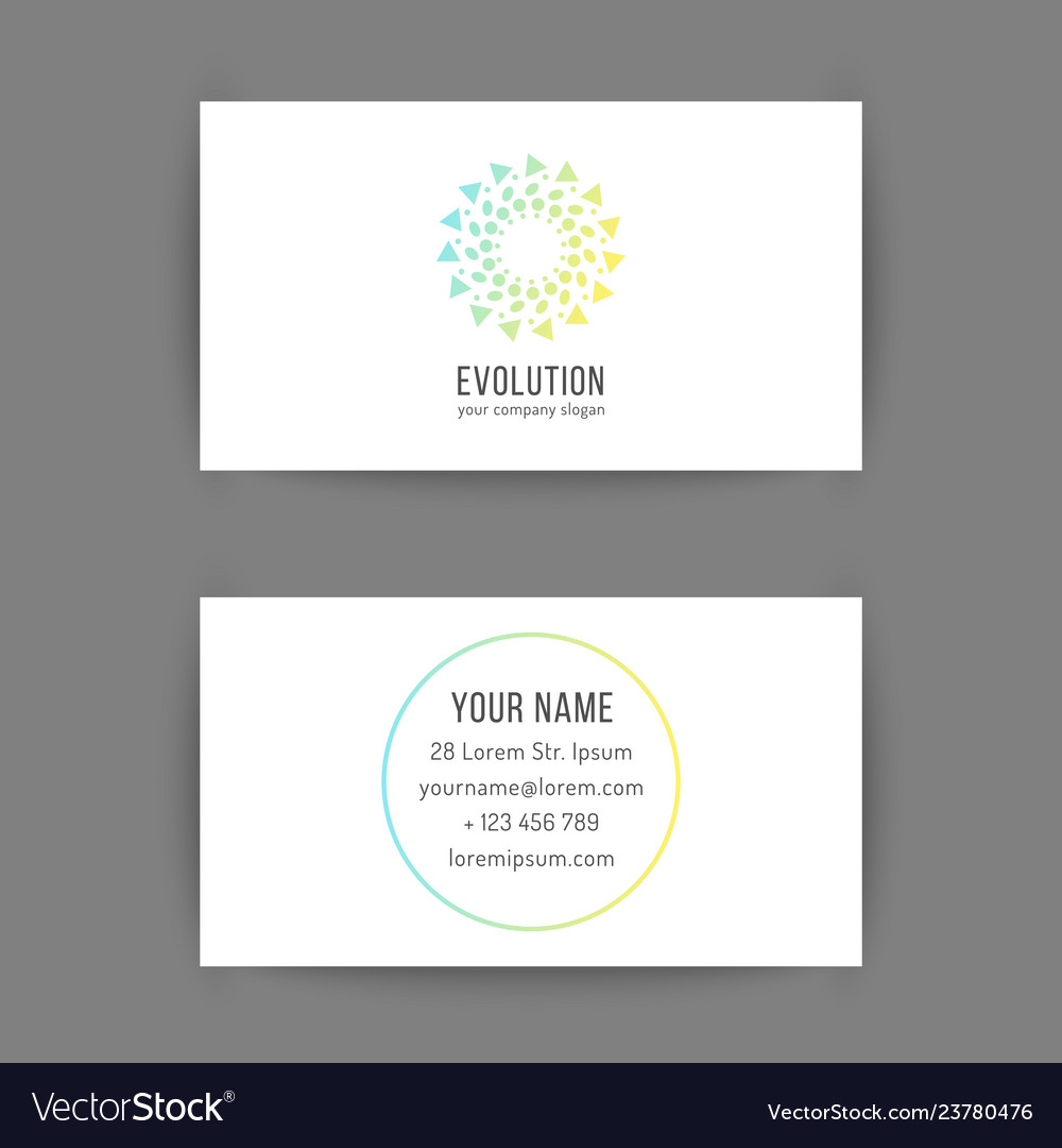 Business card template with creative geometric