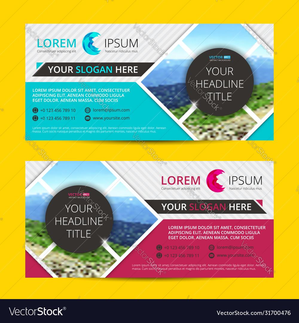 Business flyer design horizontal template