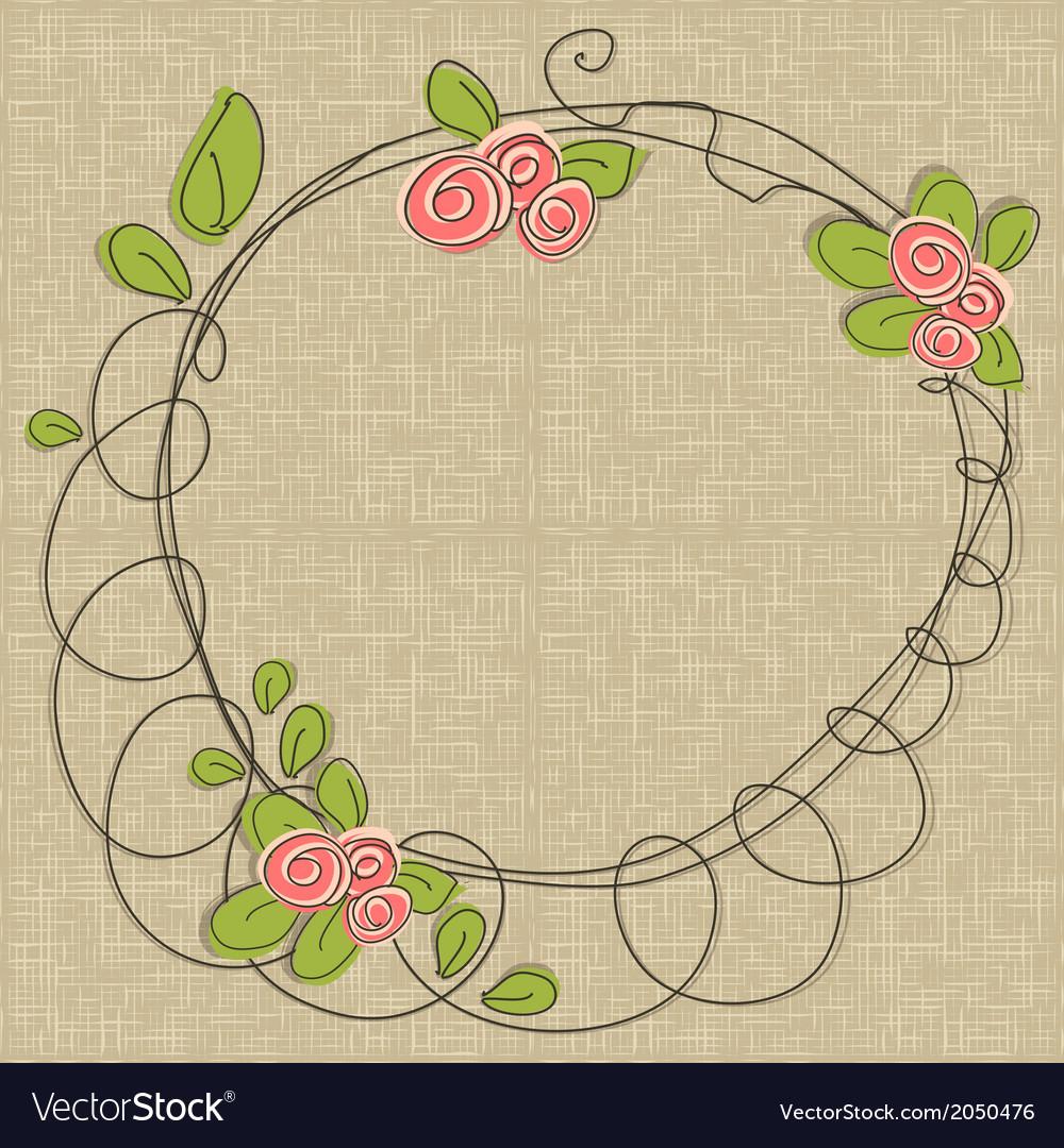 Doodle floral frames