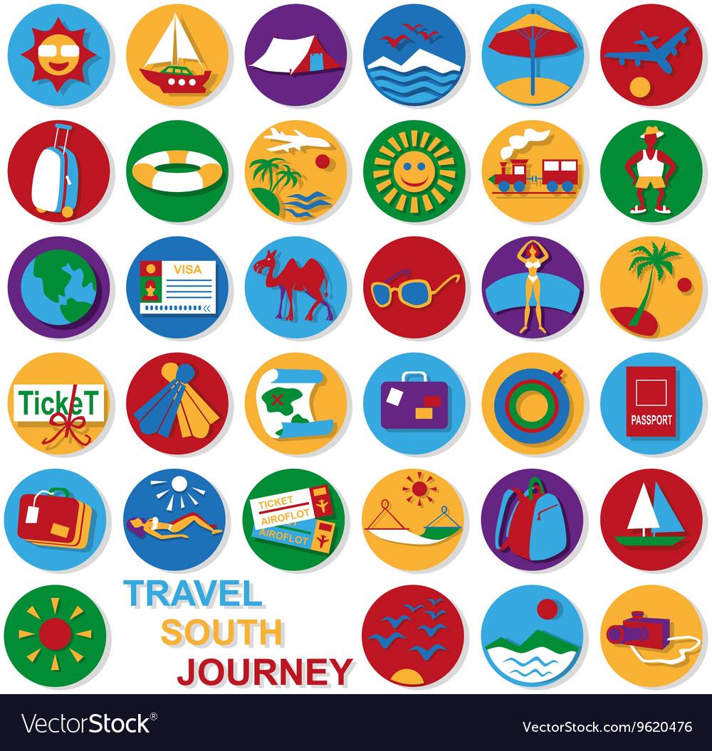 Icons set travel