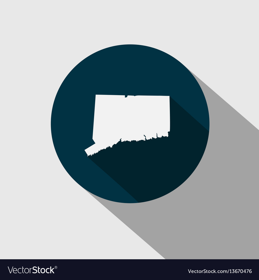 Map us state connecticut