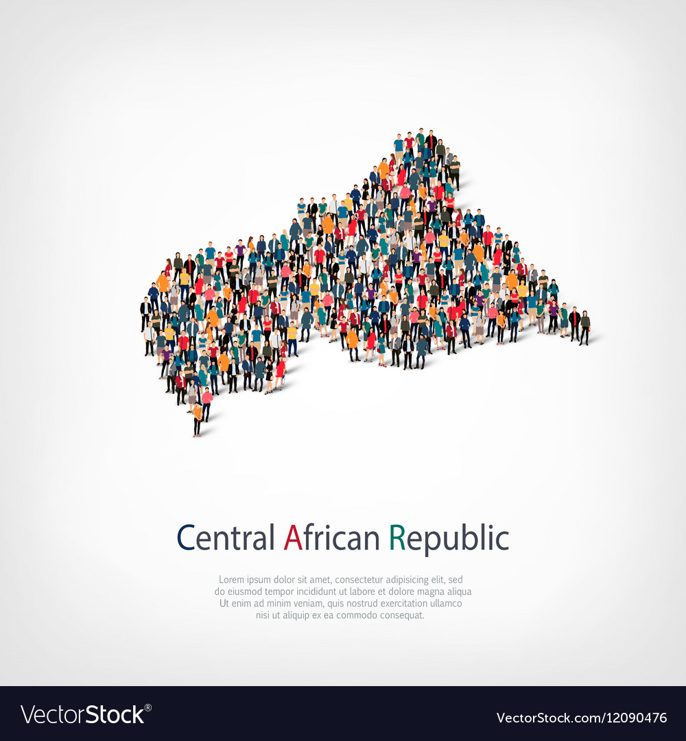People map country African Republic