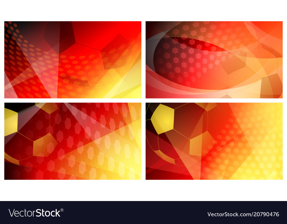 Soccer backgrounds in colors of germany