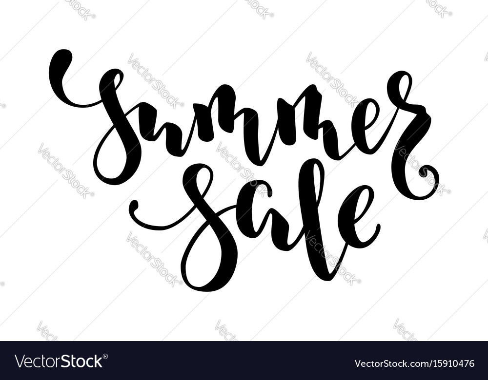 Summer sale hand drawn calligraphy and brush pen