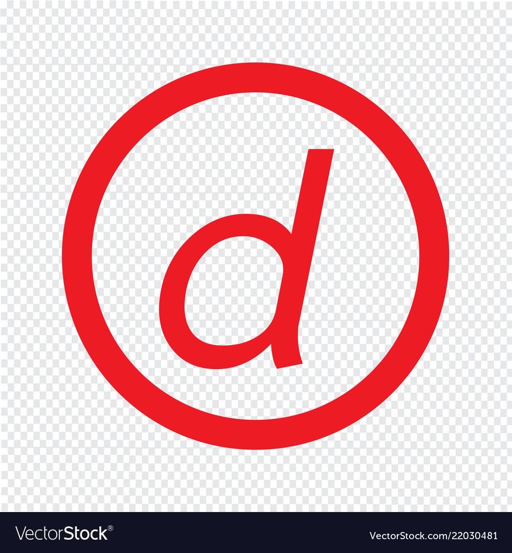 Basic font letter d icon design
