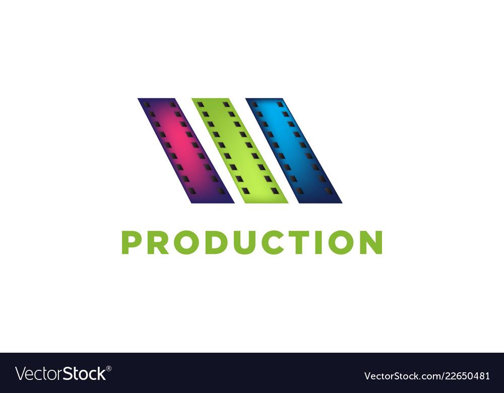 Film strip film roll cinema production logo