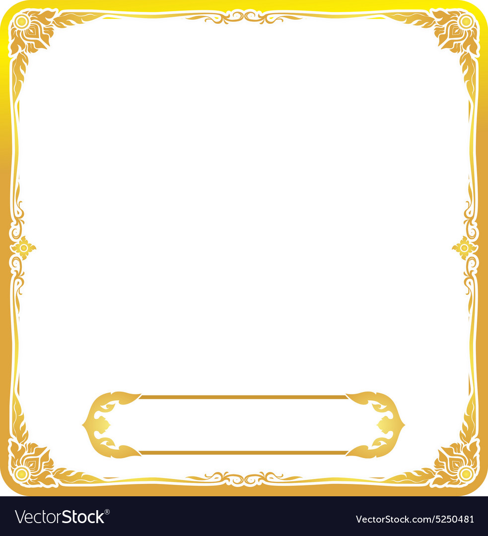 Frame gold thai style floral