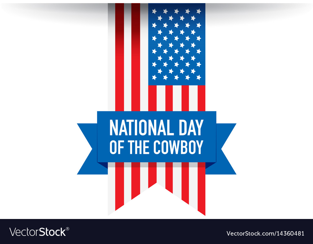 National day of the cowboy background vector image
