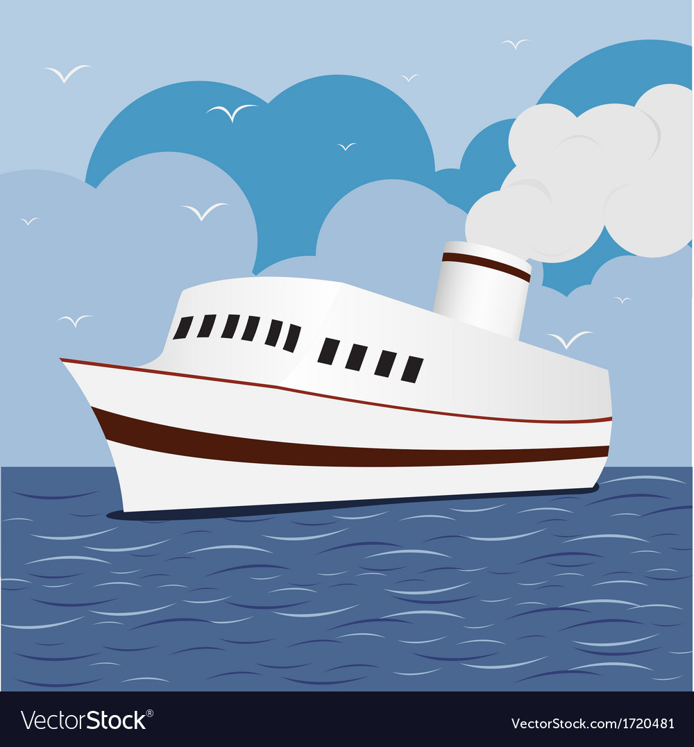 Ocean Liner Cruise Ship Boat at Sea 1