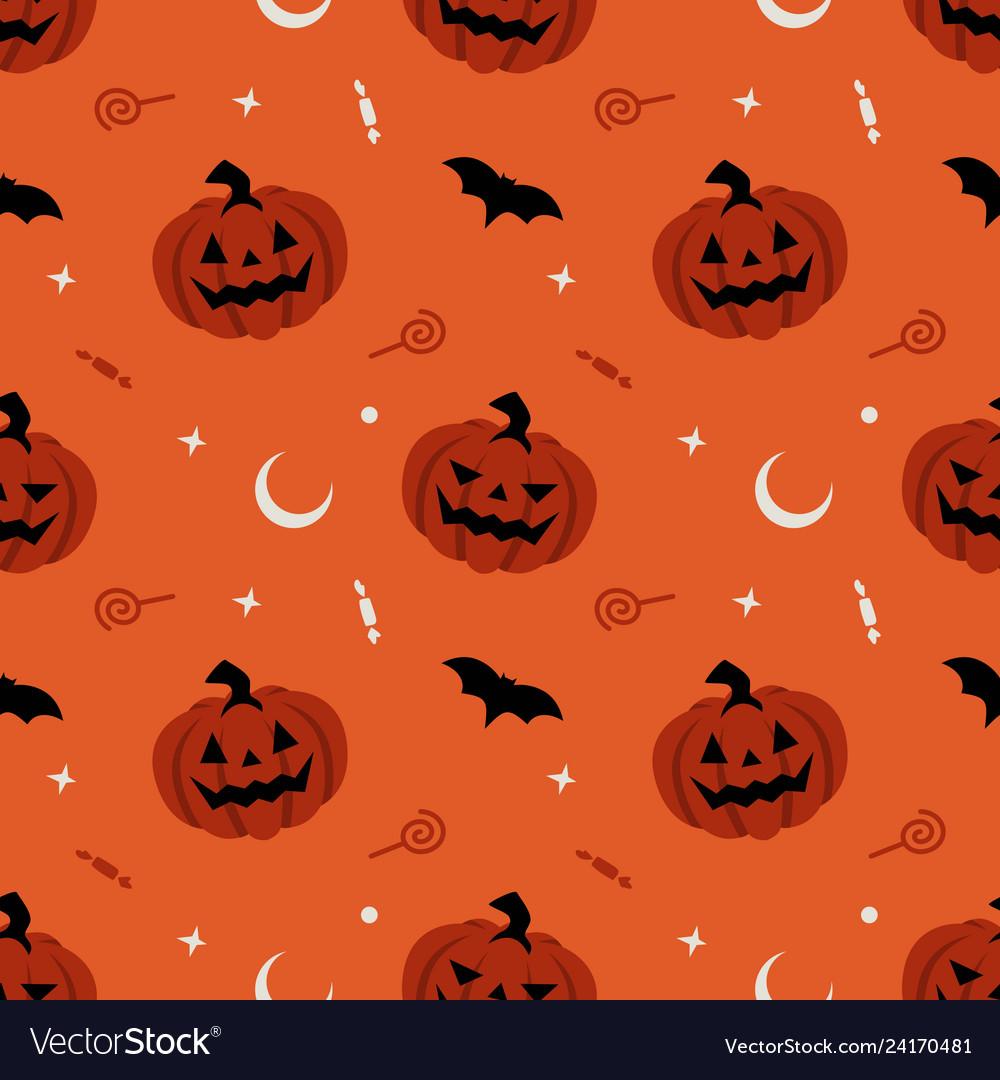 Pumpkin seamless pattern halloween background