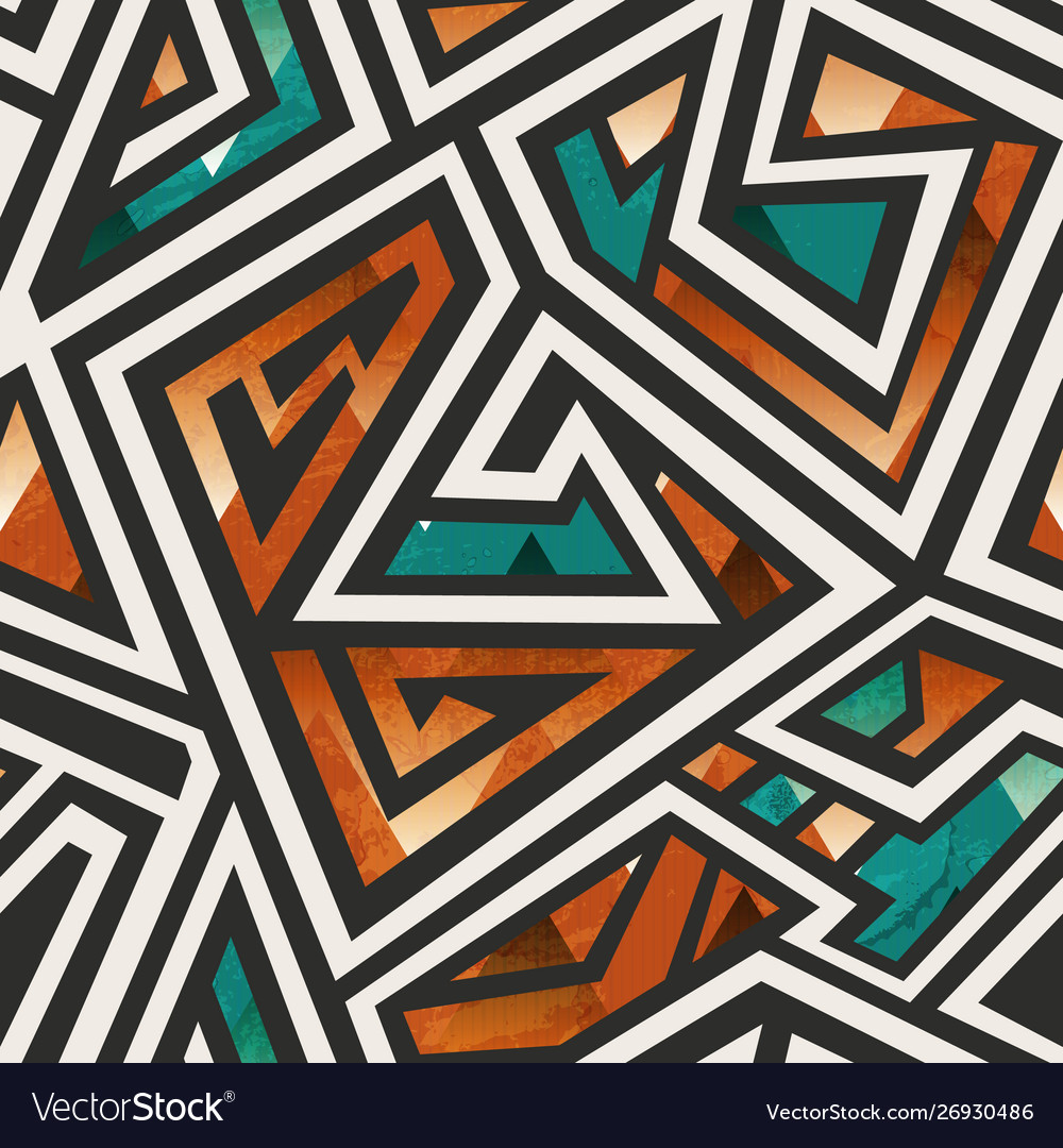 African geometric seamless pattern