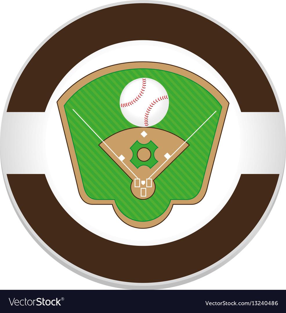 Baseball sport field emblem icon