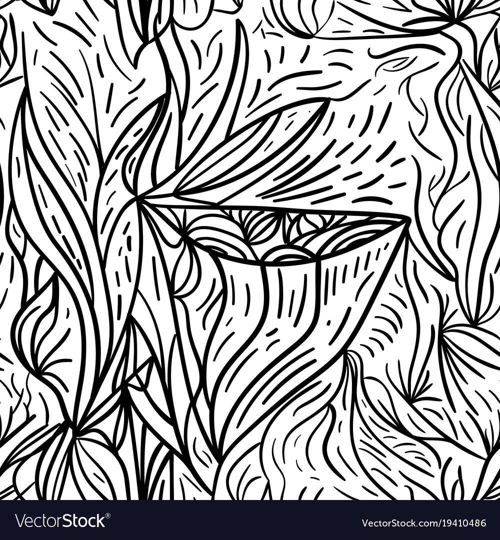 Black and white lined seamless background