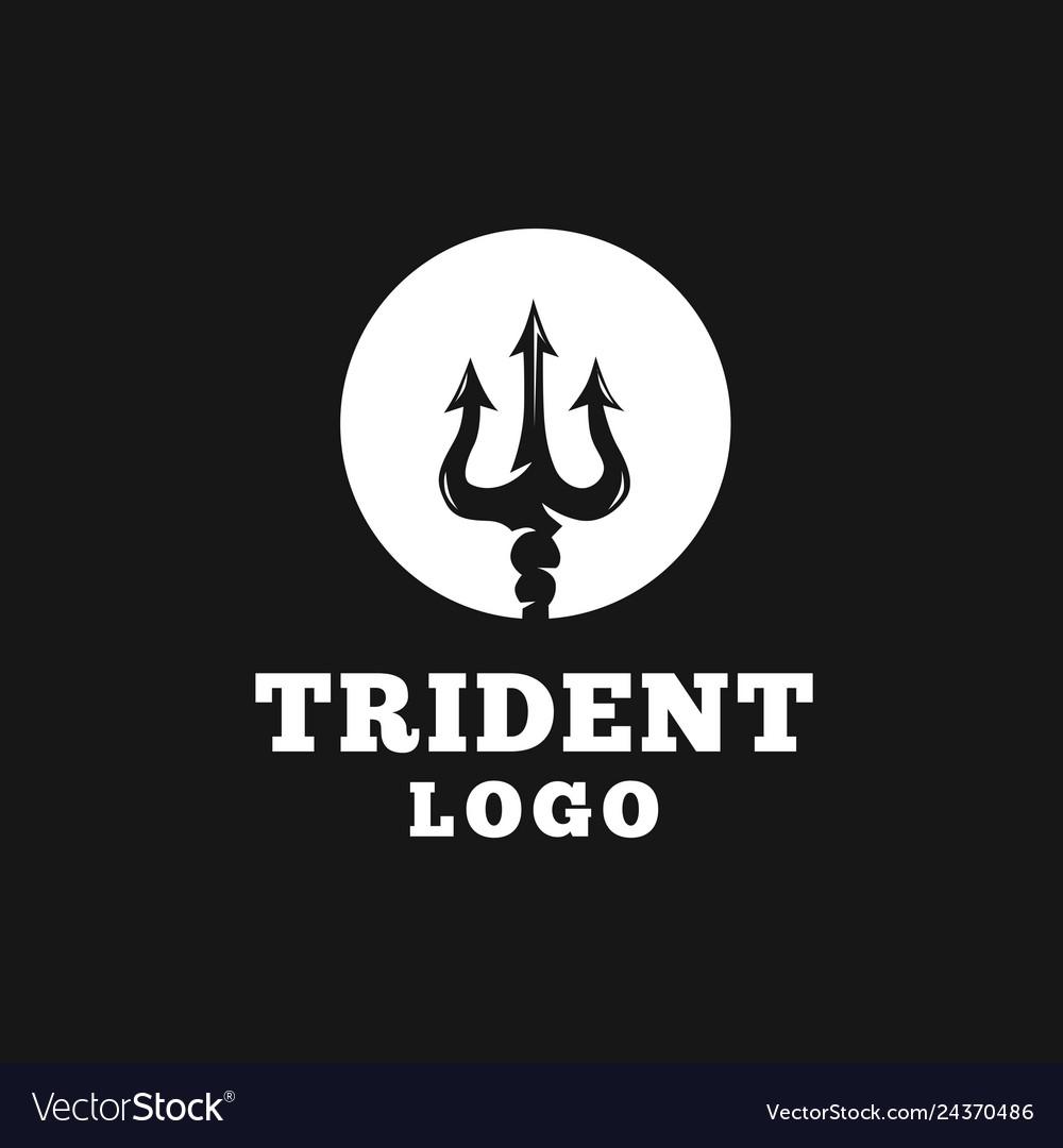 Circular trident logo design
