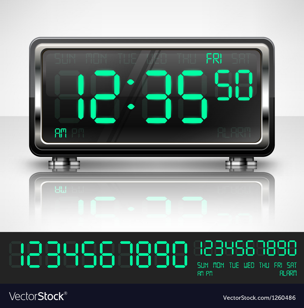 Digital watch on white vector image