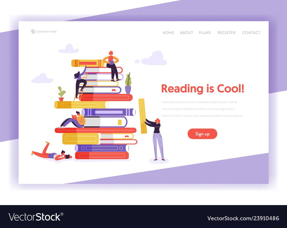 Online education concept landing page template