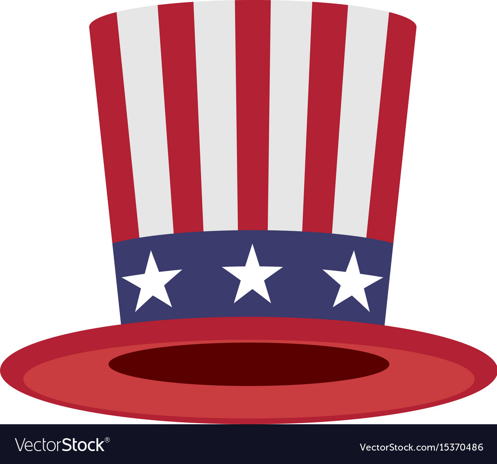 Uncle Sam Hat Symbol Of America Royalty Free Vector Image
