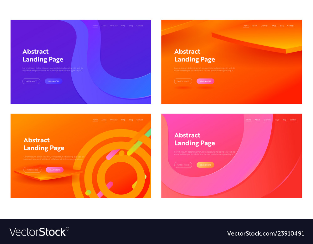 Abstract gradient geometric wave shape web page
