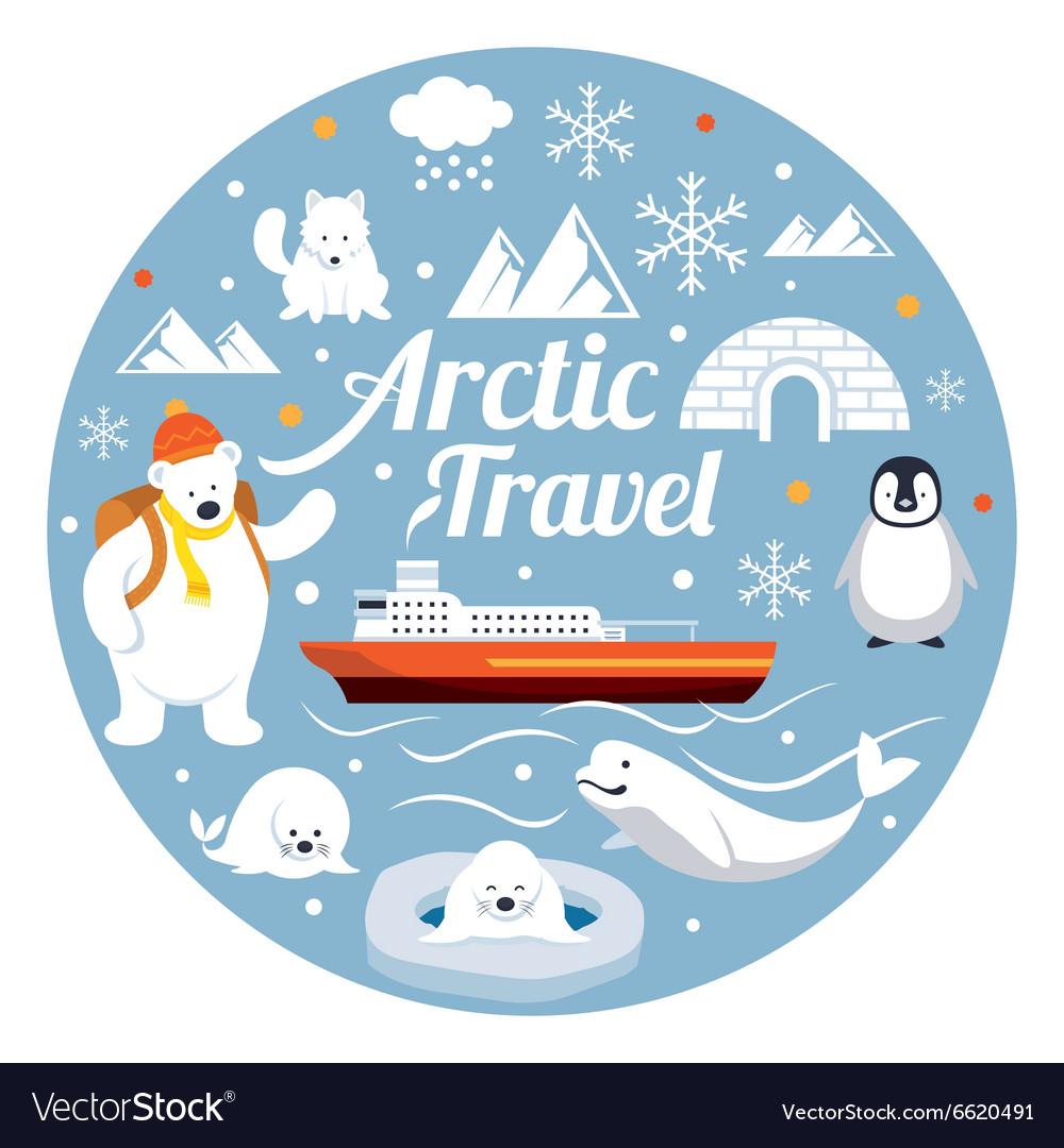 Arctic Travel Label
