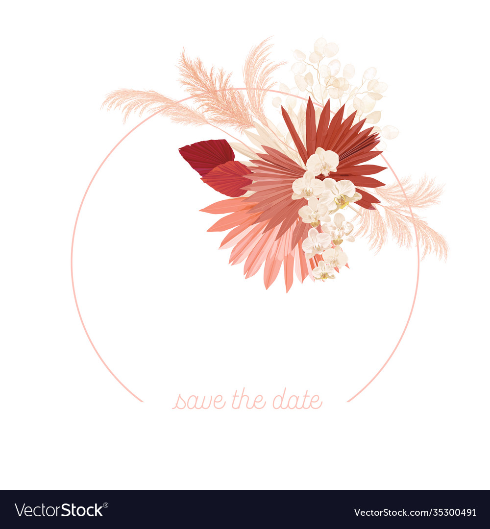 boho floral wedding frame watercolor royalty free vector  vectorstock