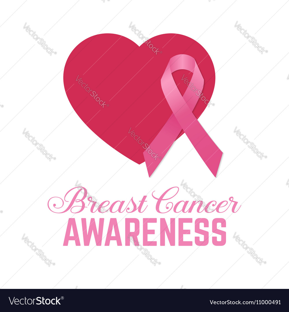Breast cancer awareness pink card