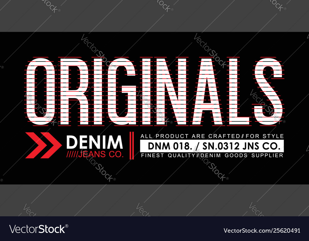 Denim typography design for t shirt printing desi