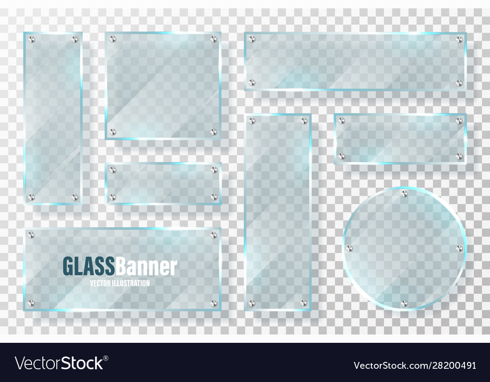 Glass frames with metal holder collection
