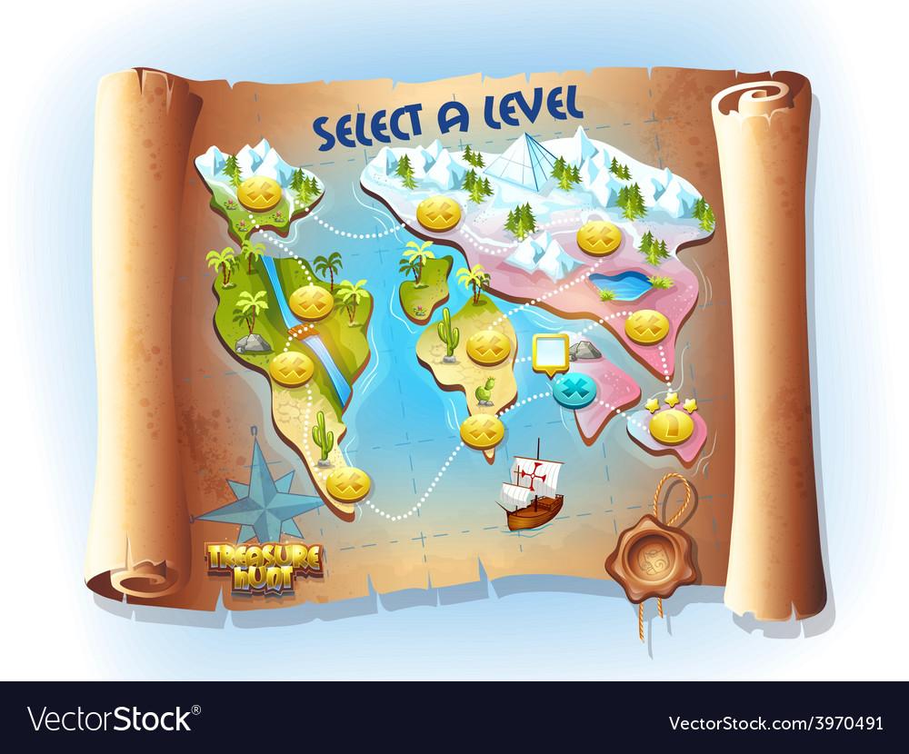 Map of treasure hunting
