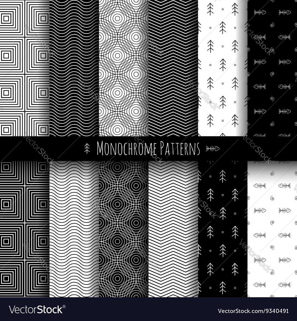 Monochrome Patterns Set