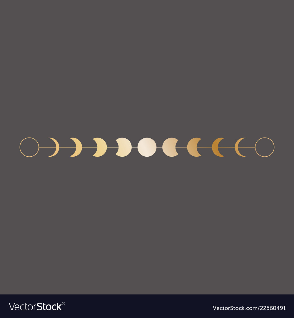 Moon phases icon border in