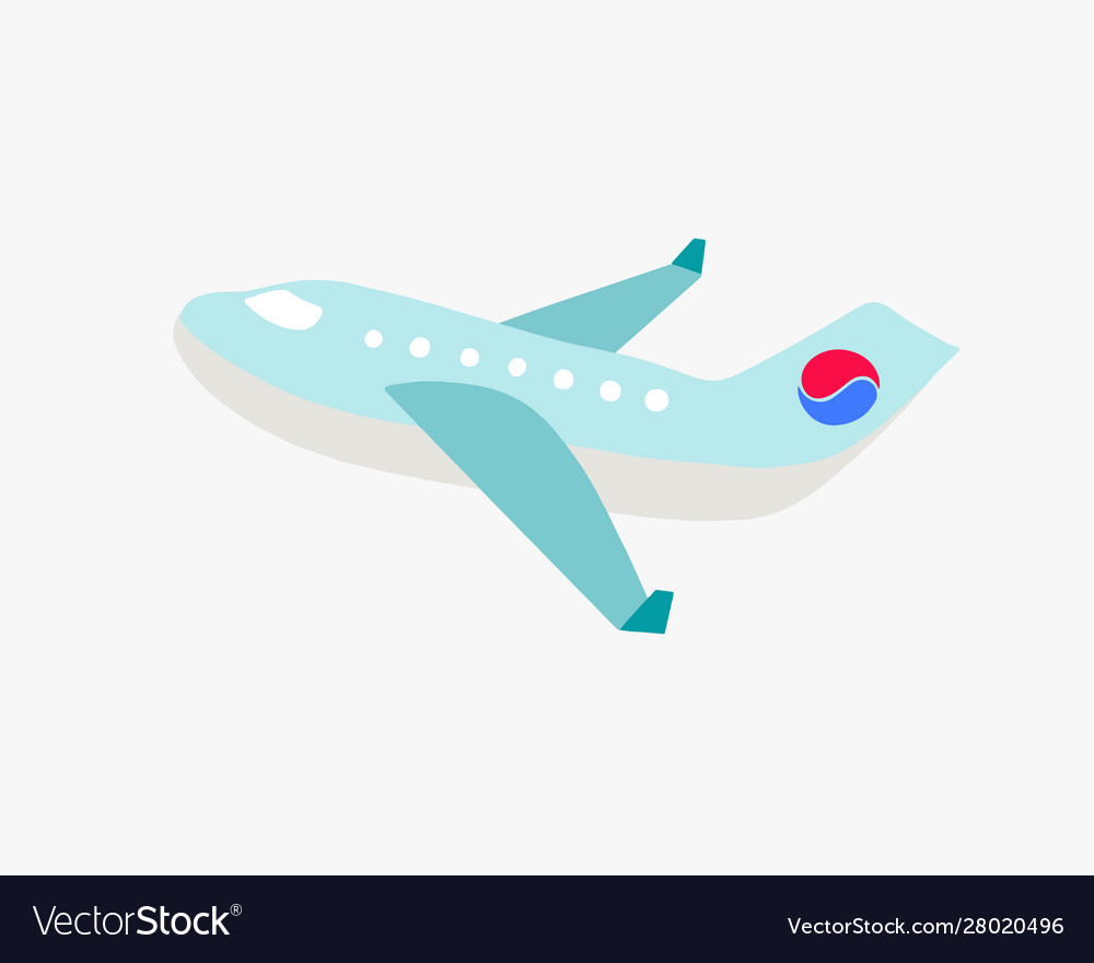 Airplane with korean flag element in south korea
