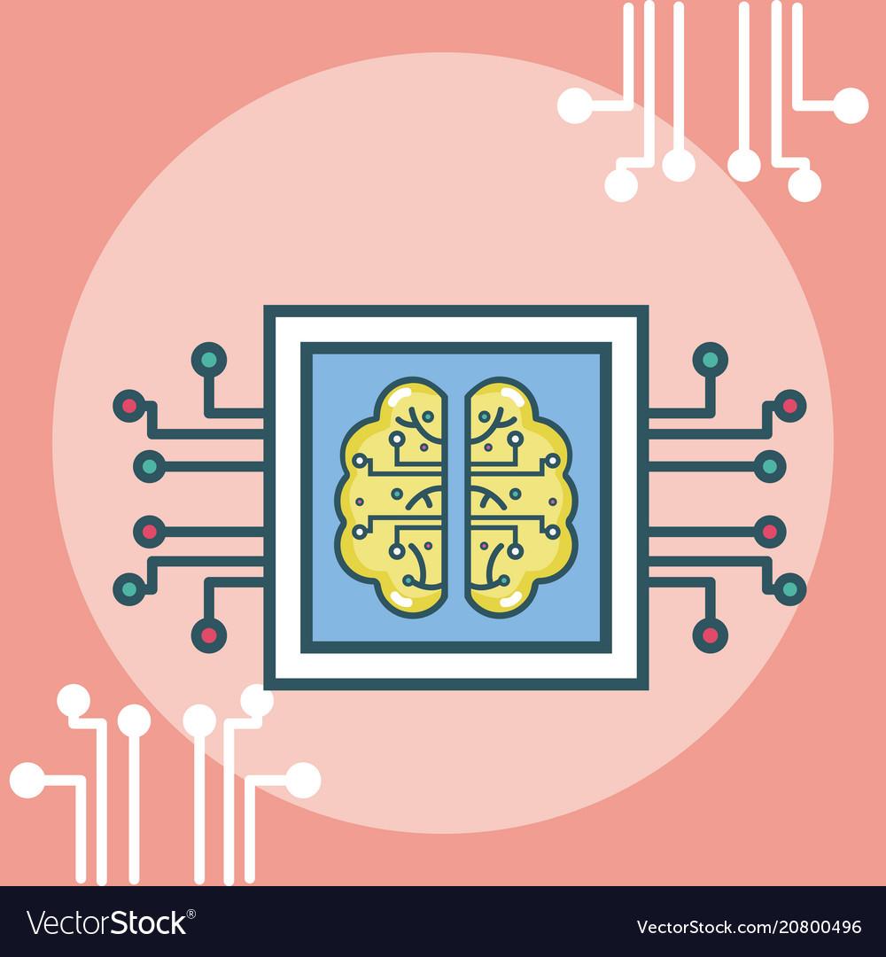 Artificial intelligence concept cartoons