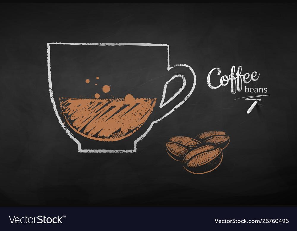 Chalk drawn coffee beans