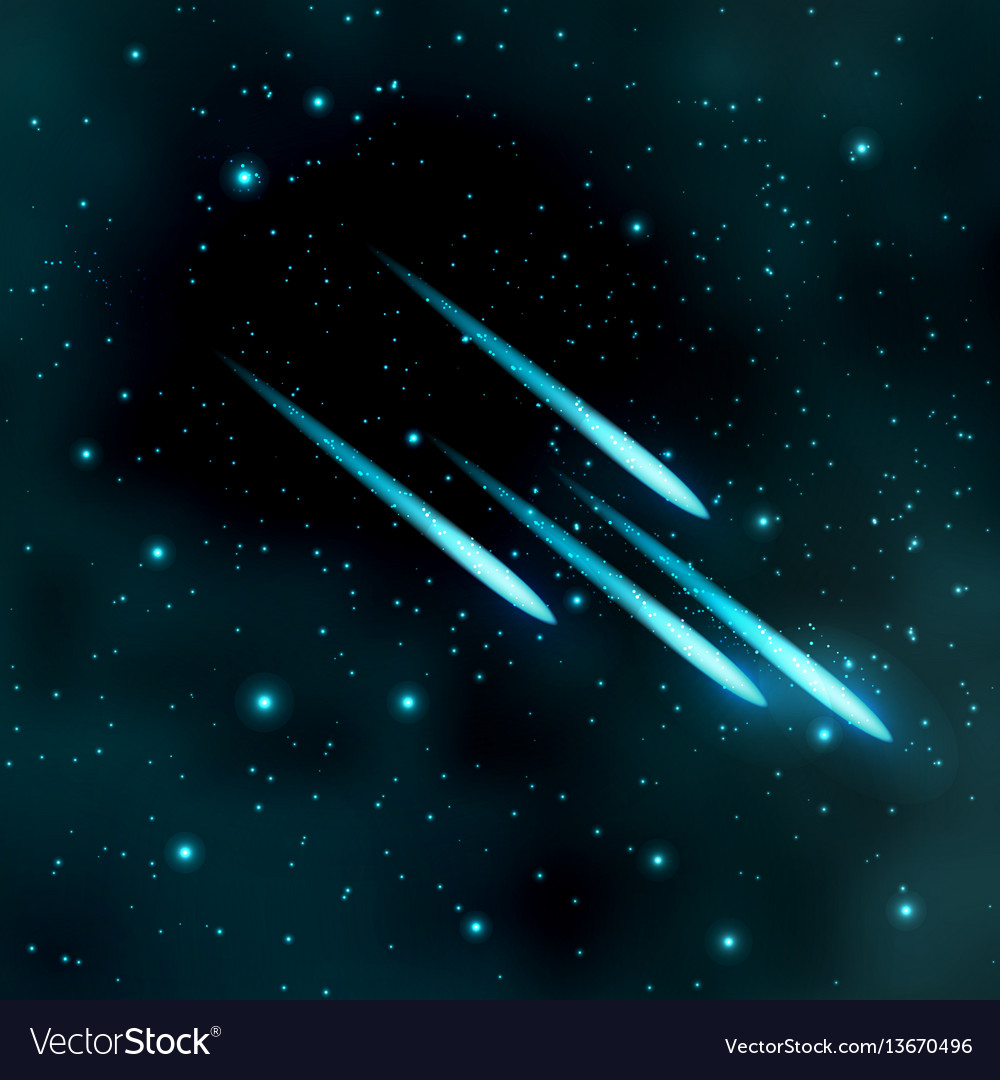 Comet in the starry sky