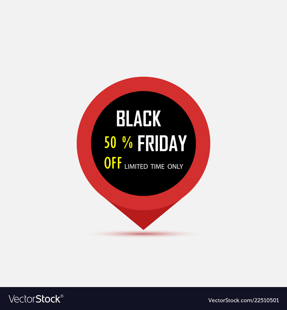 Black friday sale tag black friday sale pin black
