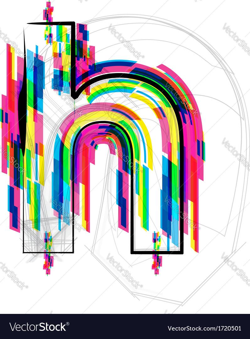 Colorful Font - Letter h vector image