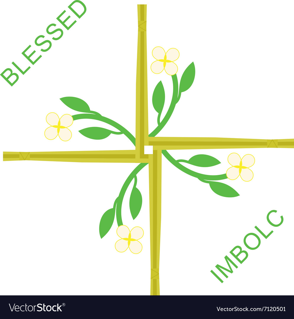 Imbolc greeting card vector image