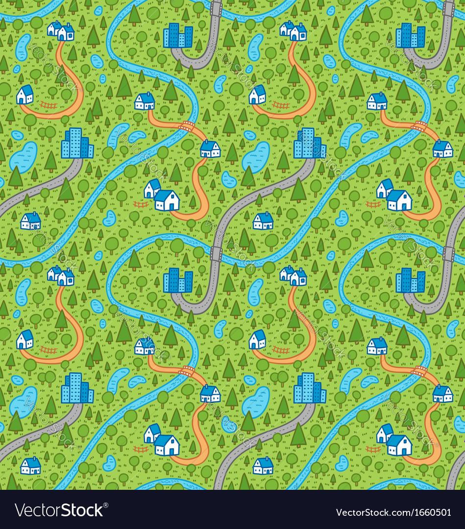 Landscape pattern in color