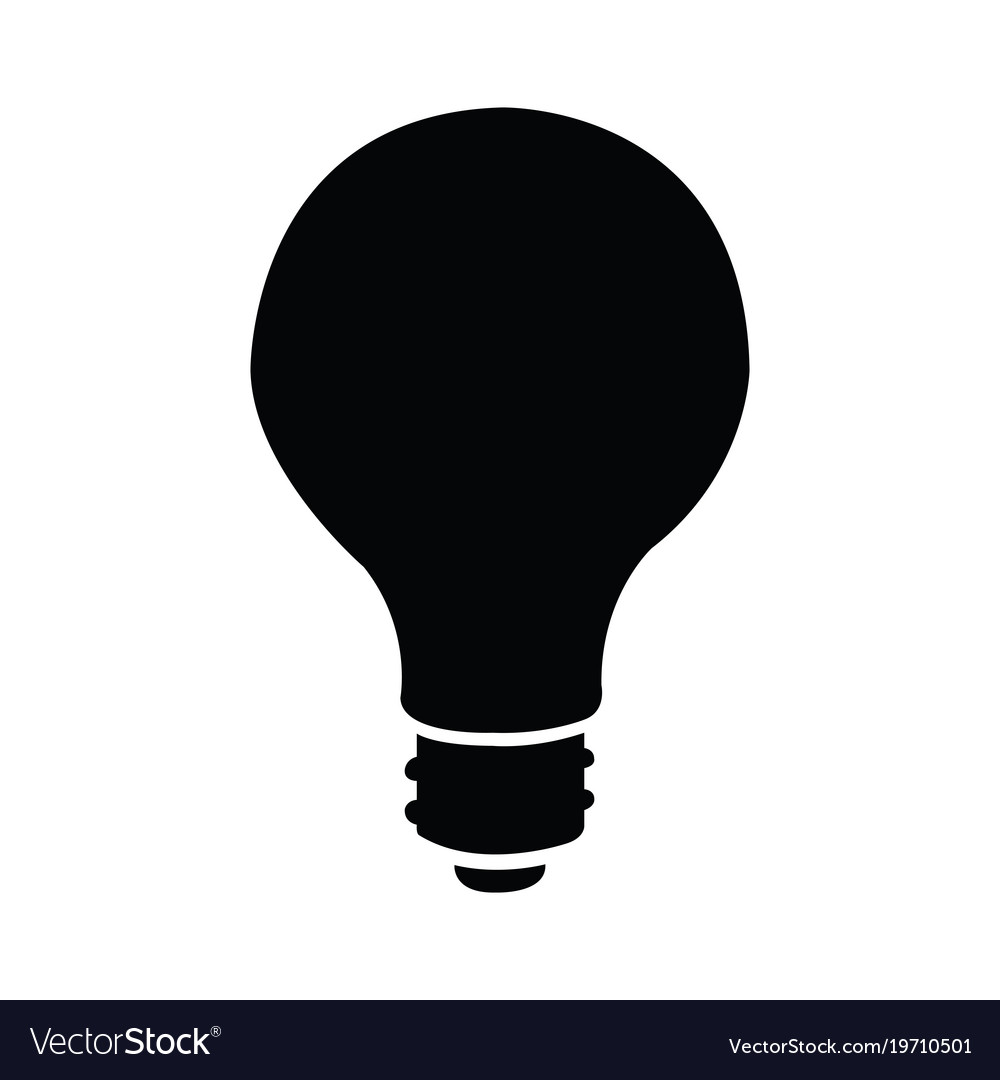 Light bulb silhouette