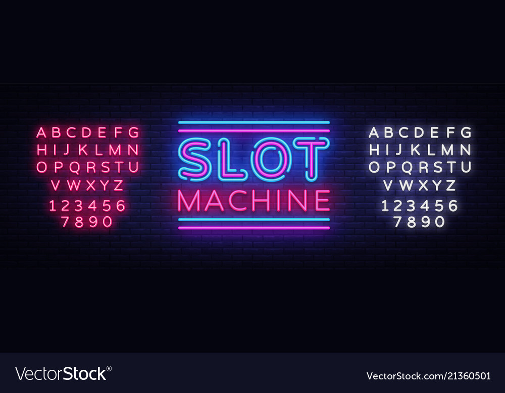 Slot machine sign design template slot