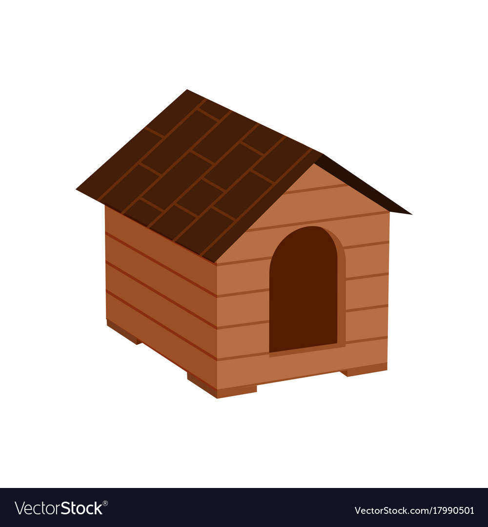 Wooden doghouse isolated icon