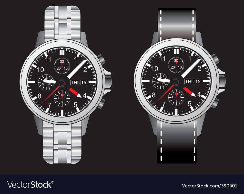 Wrist watches vector image