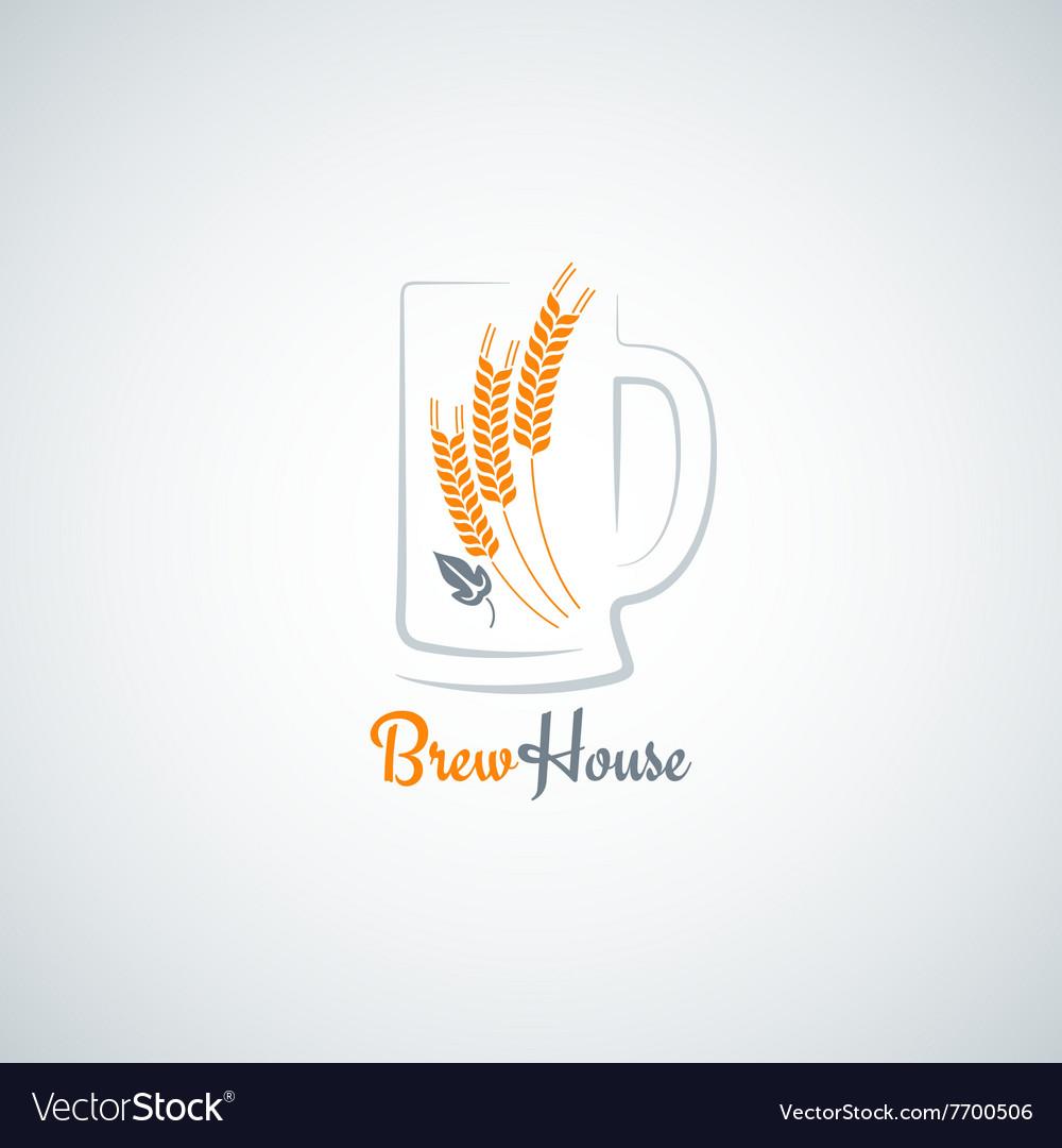 Beer mug barley design background