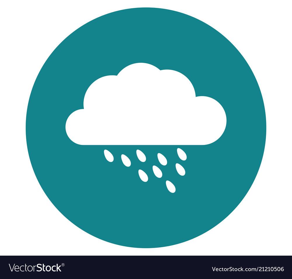 Cloud icon with rain