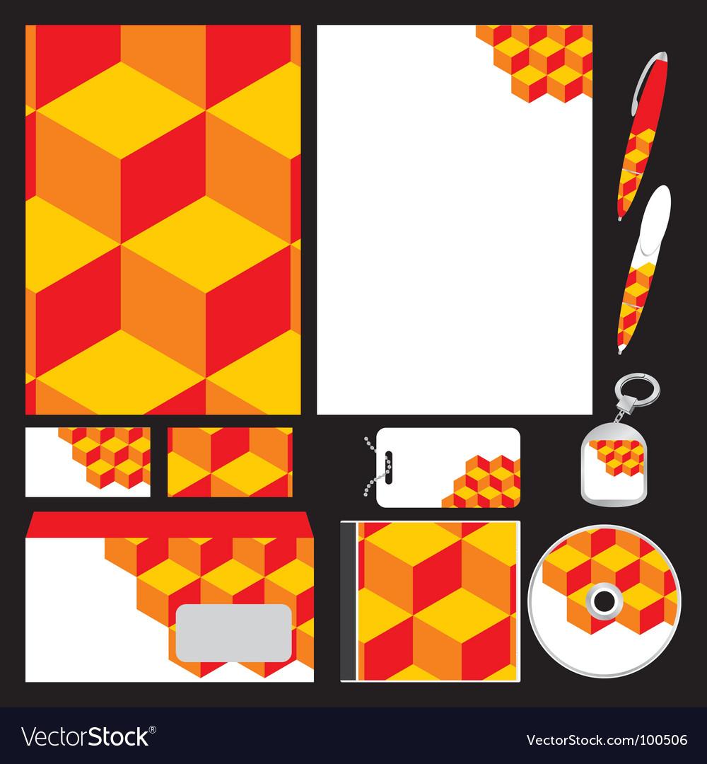 Company stationery templates Royalty Free Vector Image