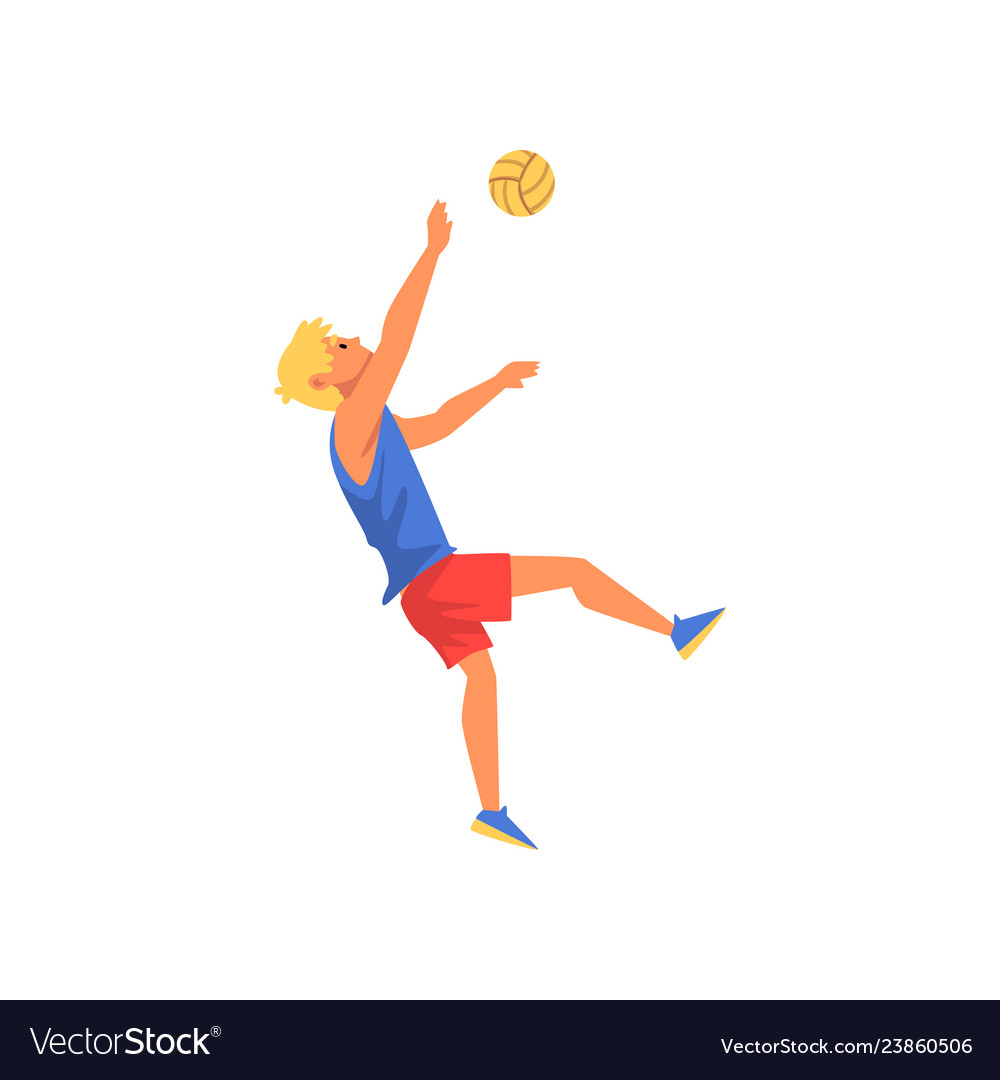 Man playing volleyball professional sportsman